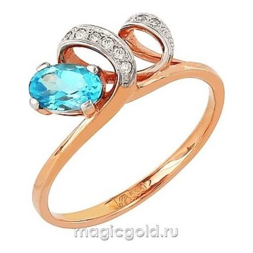 Золотое кольцо Топаз и Фианит арт. кл-392к-т кл-392к-т