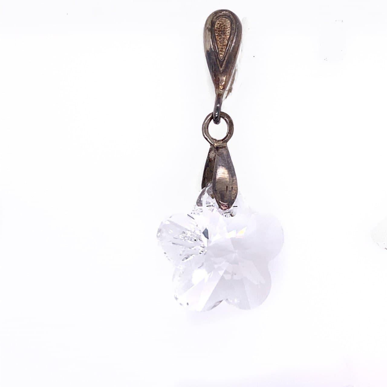 Серебряный подвес с кристаллом сваровски арт. 54611б 54611б