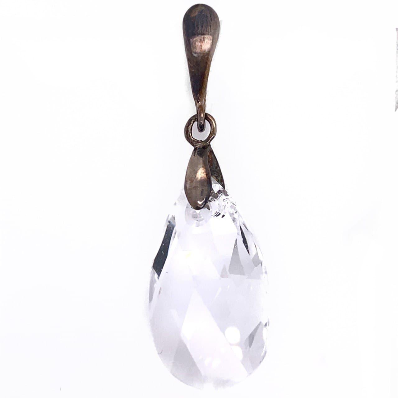 Серебряный подвес с кристаллом сваровски арт. 54591б 54591б