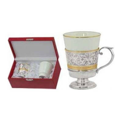 Серебряный подстаканник с фарфором арт. 3962071020 со стаканом 3962071020 со стаканом
