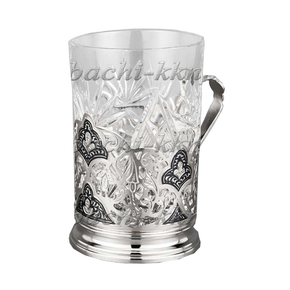 Серебряный подстаканник арт. 610019 со стаканом футляр 610019 со  стаканом  футляр