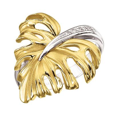 Кольцо из лимонного золота Бриллиант арт. к-14036 к-14036