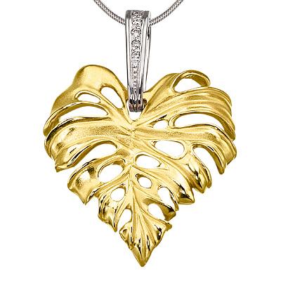 Подвес из лимонного золота с бриллиантом арт. п-14036 п-14036