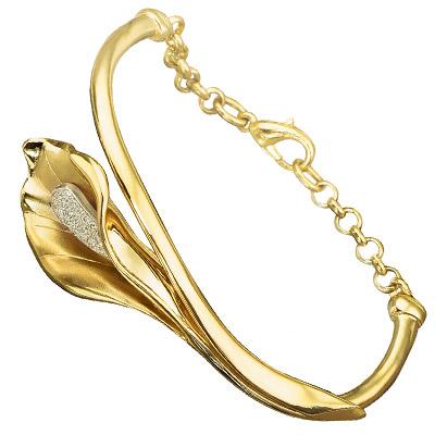 Браслет из лимонного золота с бриллиантом арт. б-14021 б-14021