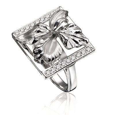 Серебряное кольцо Фианит арт. к-15001 К-15001