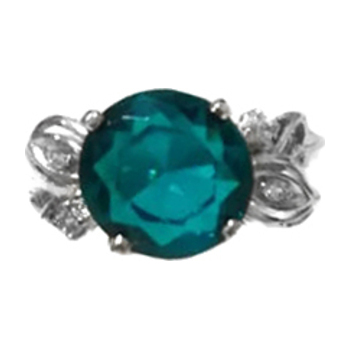 Серебряное кольцо Раухтопаз и Фианит арт. 4к-725-04 4к-725-04