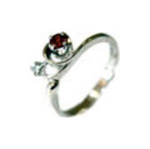 Серебряное кольцо Гранат и Фианит арт. 4к-556-04 4к-556-04