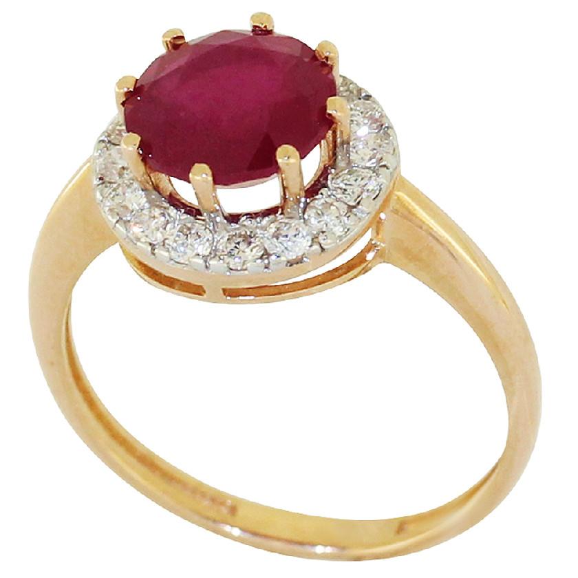 Золотое кольцо Бриллиант и Рубин арт. 1008561-11140-р 1008561-11140-р