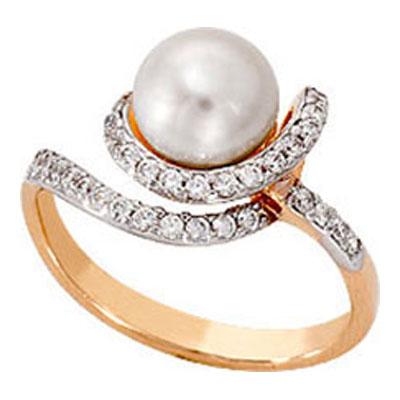 Золотое кольцо Жемчуг и Фианит арт. 1007641-11150 1007641-11150
