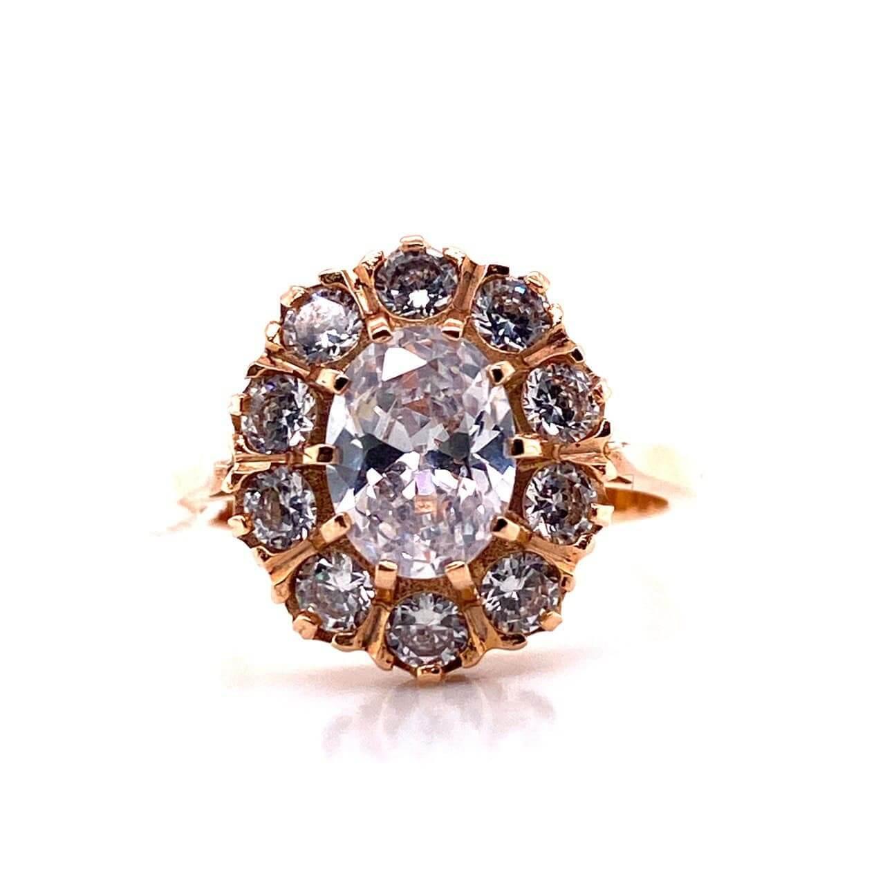 Золотое кольцо Фианит арт. 0104белый 0104белый