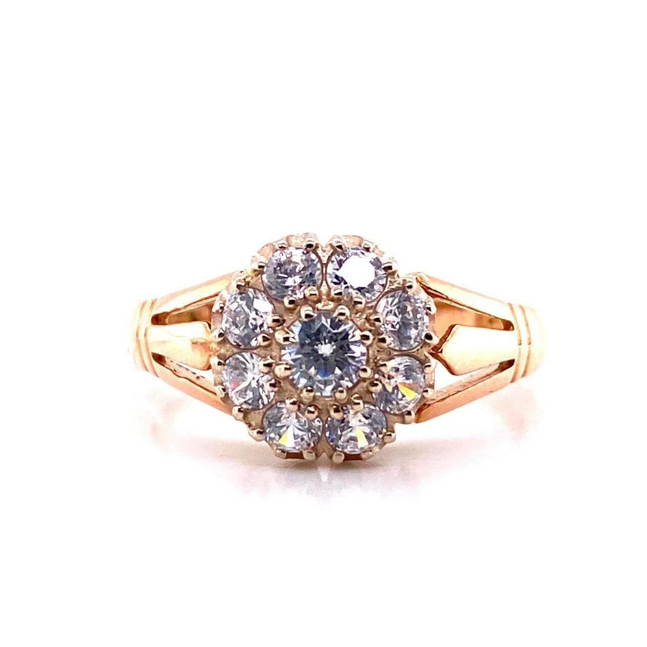 Золотое кольцо Фианит арт. 0105белый 0105белый