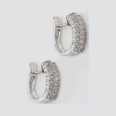 Серебряные серьги с цирконием арт. е4209 е4209