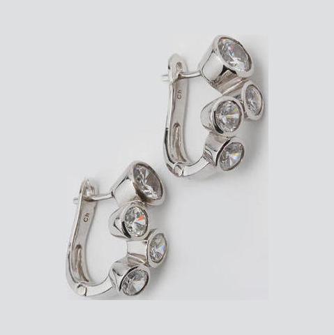 Серебряные серьги с цирконием арт. е4237 е4237