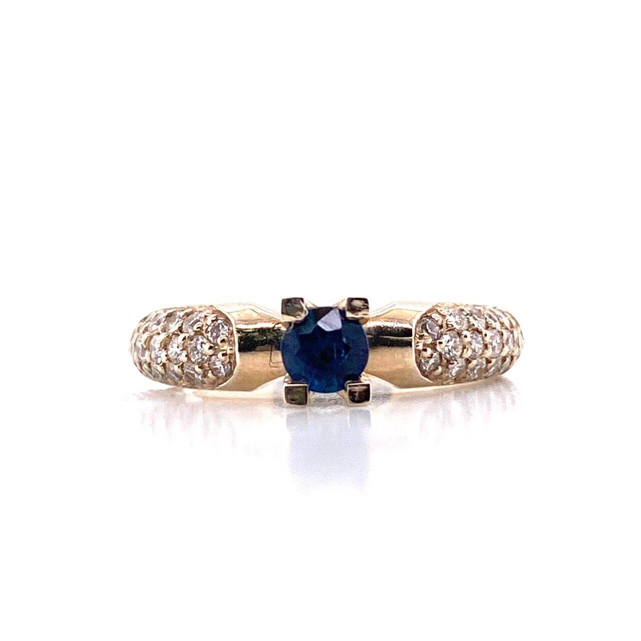 Кольцо из белого золота Бриллиант и Сапфир арт. 0146 0146