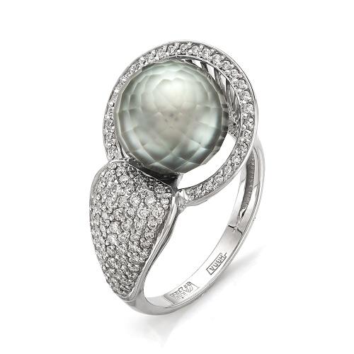 Кольцо из лимонного золота Бриллиант и Жемчуг арт. 1-105-351 1-105-351