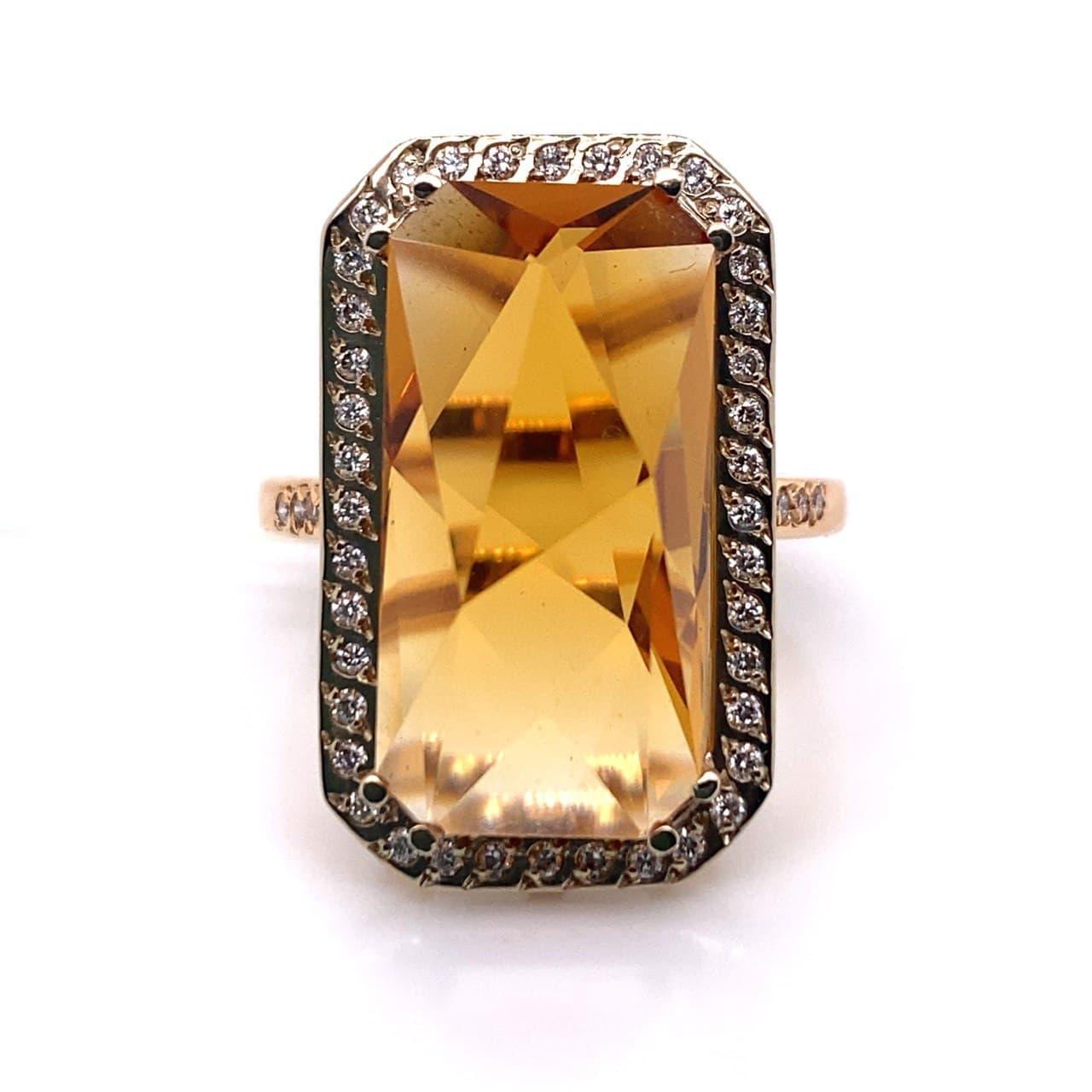 Золотое кольцо Бриллиант и Кварц арт. 91621757 91621757