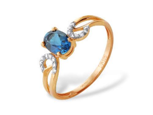 Золотое кольцо Топаз и Фианит арт. 1180243 1180243
