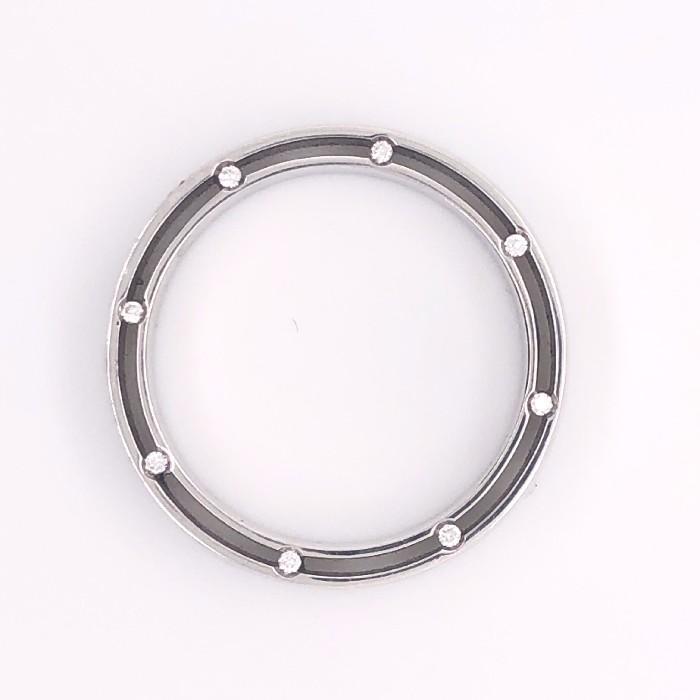 Обручальное кольцо из белого золота с бриллиантом арт. 3К9345 Б 3К9345 Б