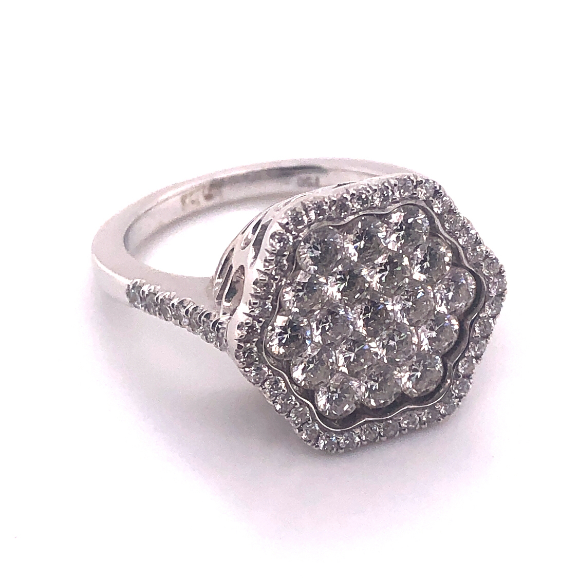 Кольцо из белого золота Бриллиант арт. ZK-035 Б ZK-035 Б