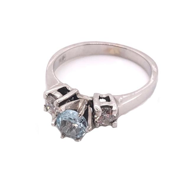 Кольцо из белого золота Бриллиант и Топаз арт. 10558 Б 10558 Б