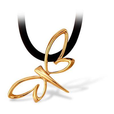 Золотое колье с каучуком арт. 14031060 14031060