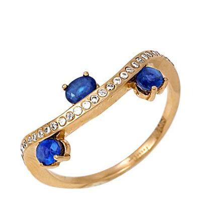 Кольцо из белого золота Бриллиант и Сапфир арт. к218-35 к218-35