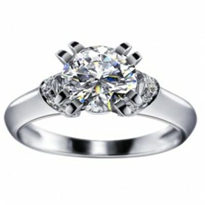 Кольцо из белого золота Бриллиант арт. 010132-Б 010132-Б