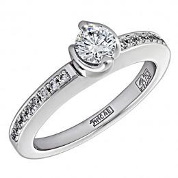 Кольцо из белого золота Бриллиант арт. 010470 010470