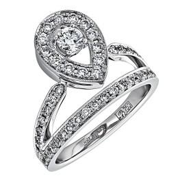 Кольцо из белого золота Бриллиант арт. 010465 010465
