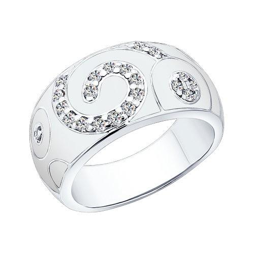 Серебряное кольцо Фианит и Эмаль арт. 94010398 94010398