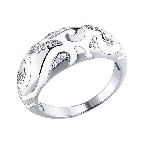 Серебряное кольцо Фианит и Эмаль арт. 94010399 94010399