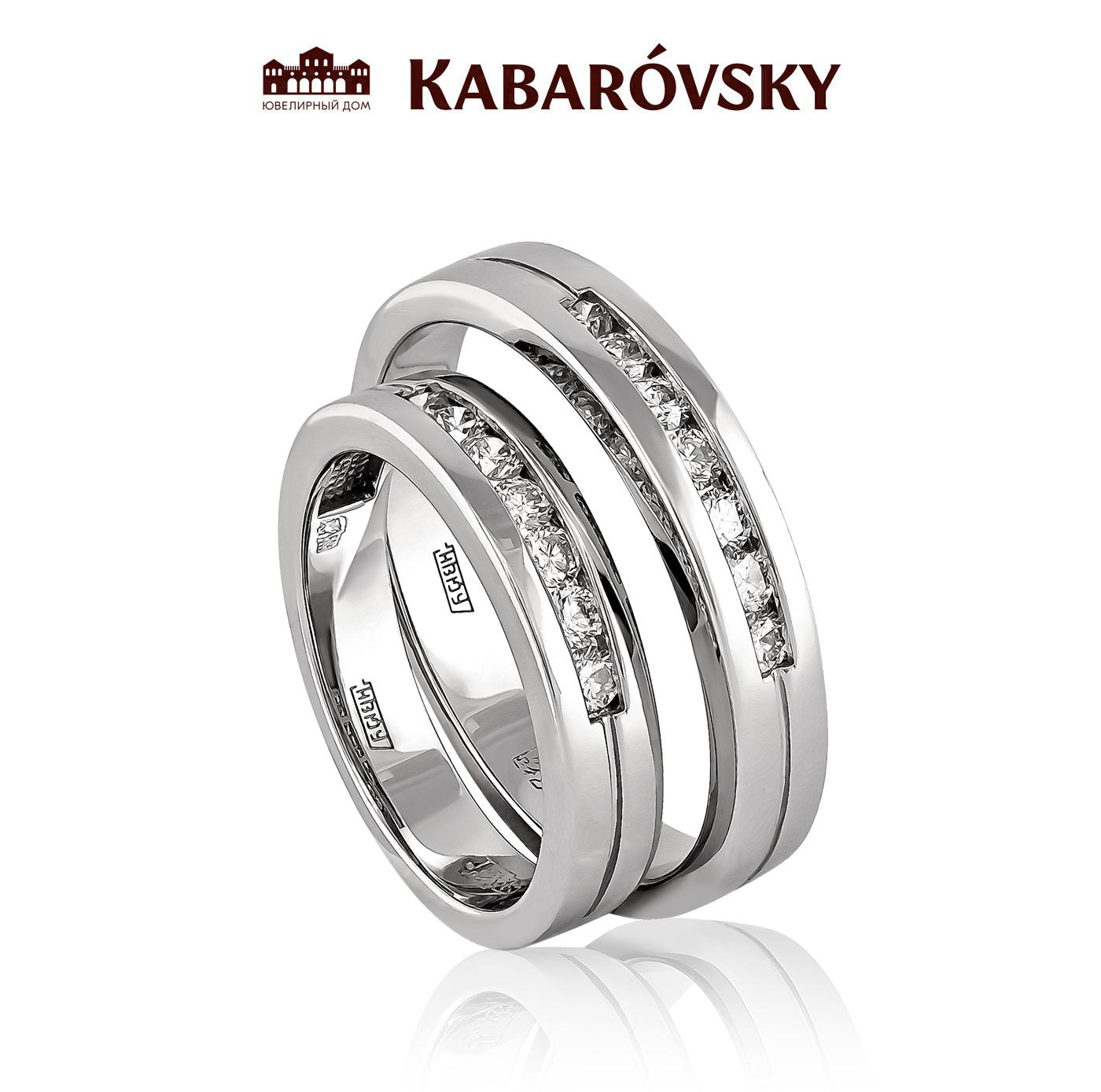 Обручальное кольцо из лимонного золота с бриллиантом арт. 21-2011 21-2011