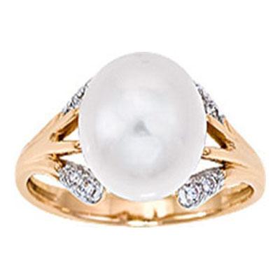 Золотое кольцо Жемчуг и Фианит арт. 1014031-11150 1014031-11150