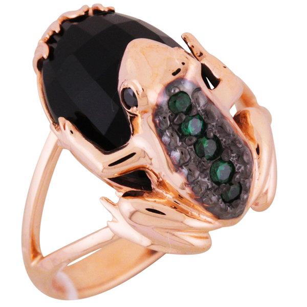 Золотое кольцо Оникс и Фианит арт. 1711312 1711312
