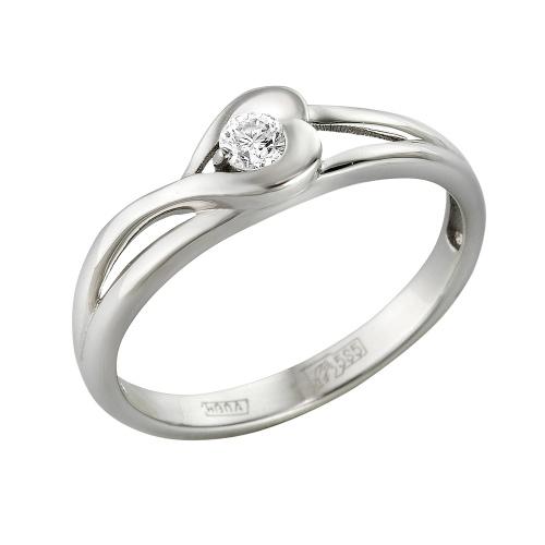 Кольцо из белого золота Бриллиант арт. 1-105-385 1-105-385