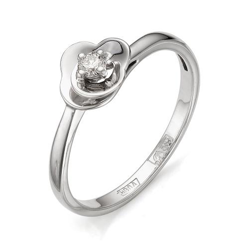 Кольцо из белого золота Бриллиант арт. 1-105-406 1-105-406