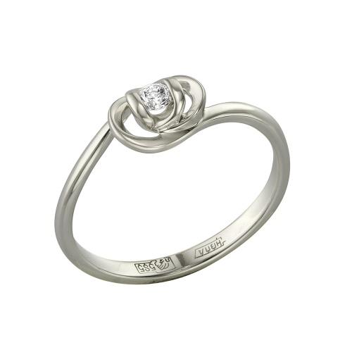 Помолвочное кольцо из белого золота с бриллиантом Бриллиант арт. 1-105-430 1-105-430