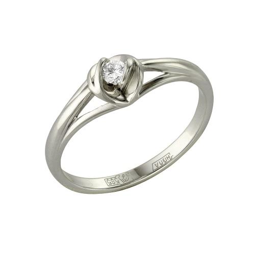 Помолвочное кольцо из белого золота с бриллиантом Бриллиант арт. 1-105-437 1-105-437