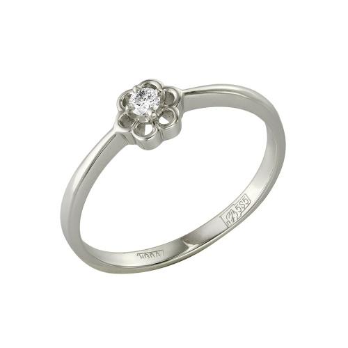 Кольцо из белого золота Бриллиант арт. 1-105-452 1-105-452