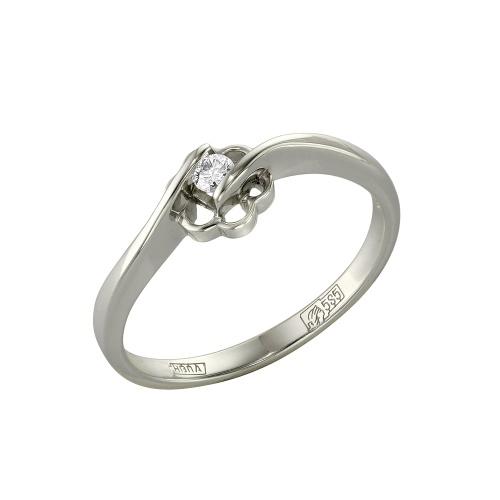 Кольцо из белого золота Бриллиант арт. 1-105-453 1-105-453