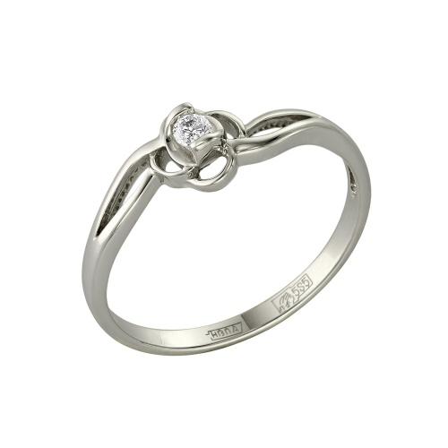 Кольцо из белого золота Бриллиант арт. 1-105-455 1-105-455