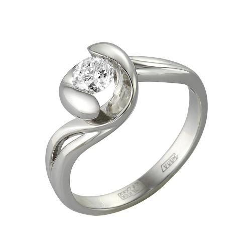 Кольцо из лимонного золота Бриллиант арт. 1-105-365 1-105-365