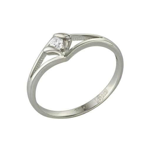 Кольцо из белого золота Бриллиант арт. 1-105-466 1-105-466