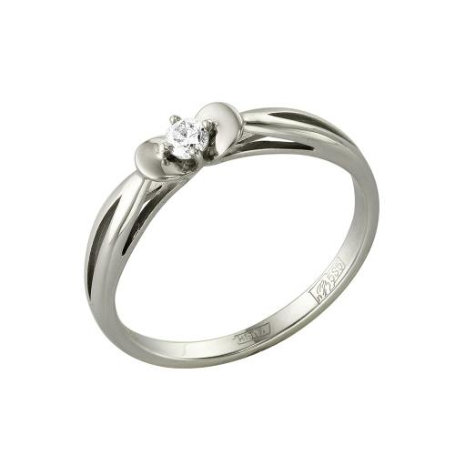Кольцо из белого золота Бриллиант арт. 1-105-425 1-105-425
