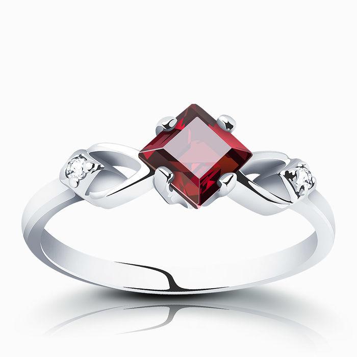 Серебряное кольцо Гранат и Фианит арт. 00141 00141