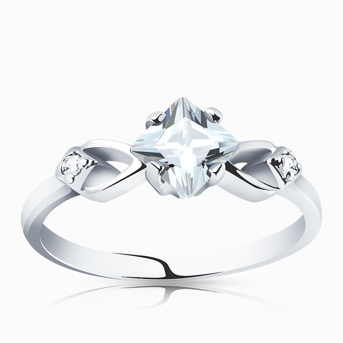 Серебряное кольцо Фианит арт. 00146 00146