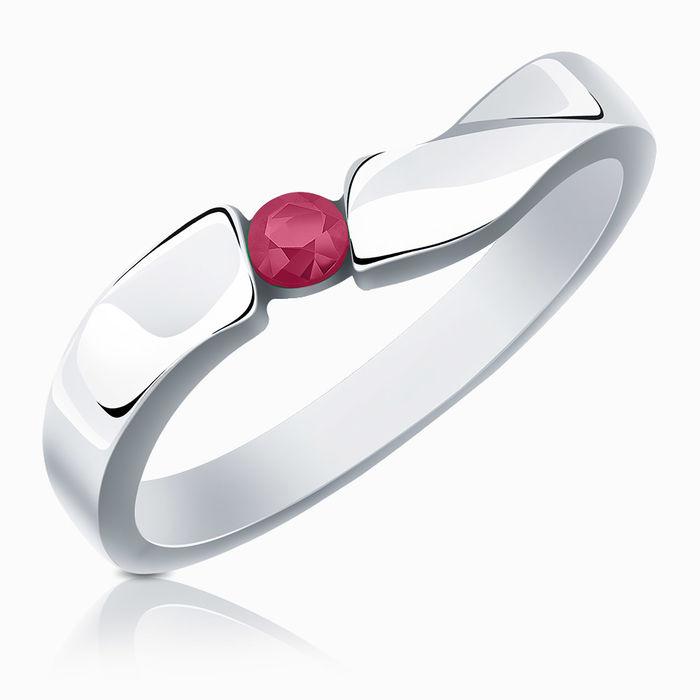 Серебряное кольцо Рубин арт. 00890 00890