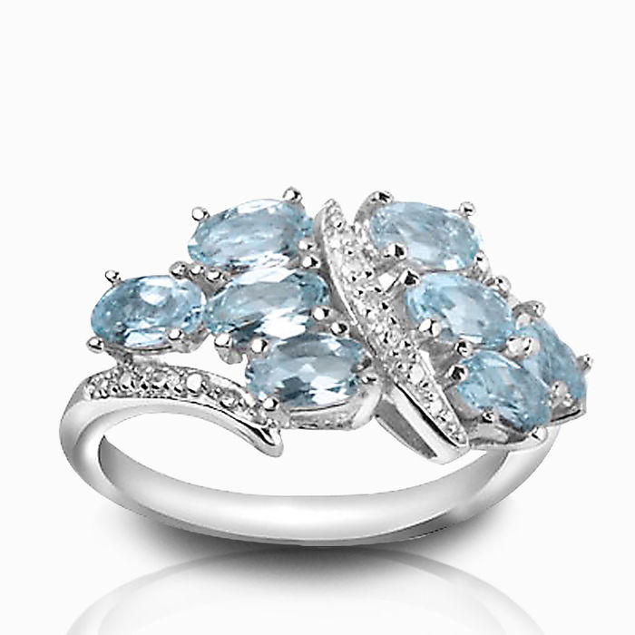 Серебряное кольцо Топаз и Фианит арт. 01667 01667