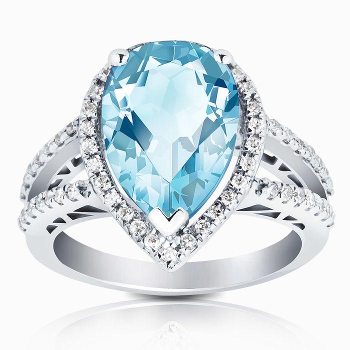 Серебряное кольцо Топаз и Фианит арт. 01712 01712