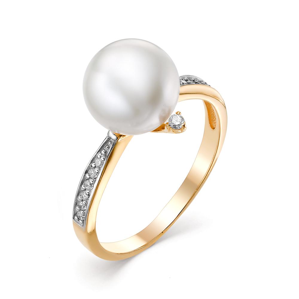 Золотое кольцо Жемчуг и Фианит арт. 31348A1 31348A1
